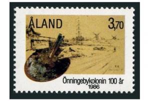 Finland-Aland 25,MNH.Michel 19. Onningeby Artist's Colony,1986.