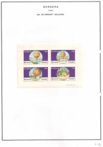 SCOTLAND - BERNERA - 1981 - Balloons - 4v Imperf Sheet - MLH