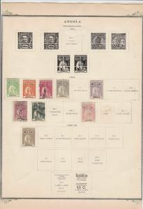 angola stamps on album page ref r11487