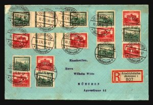 Germany 1931 Zusammendruck & Gutter Pair Cover (Archived on  Card) - Z17110