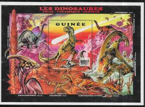 Guinea #1239 1000fr Dinosaures S /S (MNH) CV $10.00