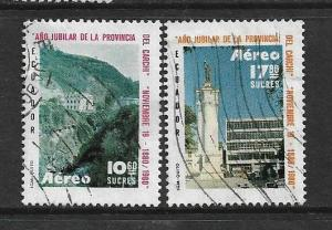 ECUADOR,C707-C708, USED, GOVERNERS PALACE 1980