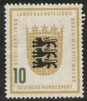 Germany Scott 730 MH* 1955 Arms of Baden-Wurttemberg