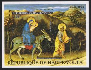 Upper Volta Painting by Fabiano Christmas MS 1973 CTO MI#Block 9 SC#C134