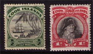 COOK ISLANDS - 1932 SG99-100 Mint Stamps