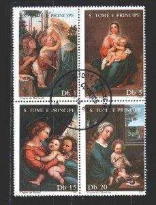 Sao Tome and Principe. 1987. Quart 1021-24. Madonna, christmas. USED.
