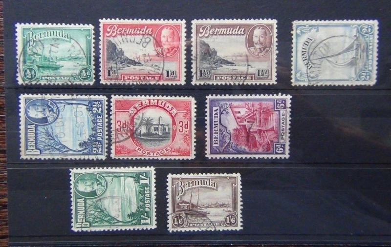 Bermuda 1936 - 1947 set complete to 1/6 SG98 - SG106 Fine Used