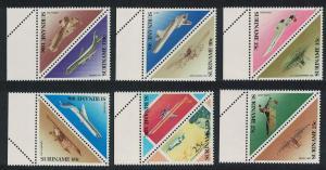 Suriname Aircraft 12v Margins SG#1339-1350