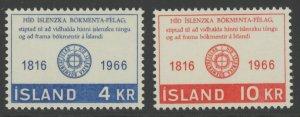 Iceland 386-7 MNH mint (002744 106)