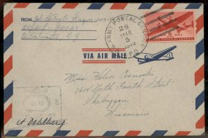USA WWII APO Airmail Military Mail Cover 93789