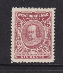 Newfoundland Scott # 92 VF-XF-OG lightly hinged scv $ 100 ! see pic !
