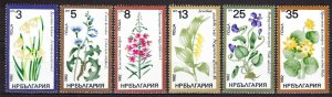 Bulgaria 1982 Medicinal Plants Flowers Nature Flora Ficaria Verna Stamps MNH