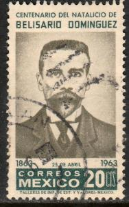 MEXICO 936, Centenary birth of Belisario Dominguez USED. F-VF. (1136)
