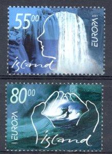 Iceland Sc# 937-938 MNH 2001 Europa