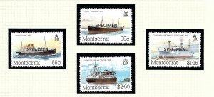Montserrat 539-42 MNH 1984 Overprinted SPECIMEN     (KA)
