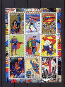 Superman Shlt (9) perf.MNH Kyrgystan 2000 Comics