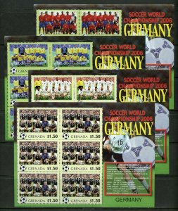 GRENADA  WORLD CUP SOCCER CHAMPIONSHIPS 2006  SET OF 32  SHEETS  MINT NH