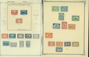 Honduras 1941-1978 M & U Hinged on a Mix of Duplicatd Remaindered Pages