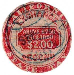 (I.B) US Revenue : Inland Exchange $2 (California)