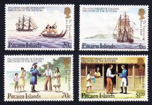 Pitcairn 175th Anniversary of Folger's Discovery of the Settlers 4v SG#238-241