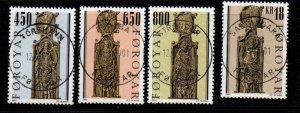 Faroe Islands Sc 389-92  2001 Pew Gables stamp set used