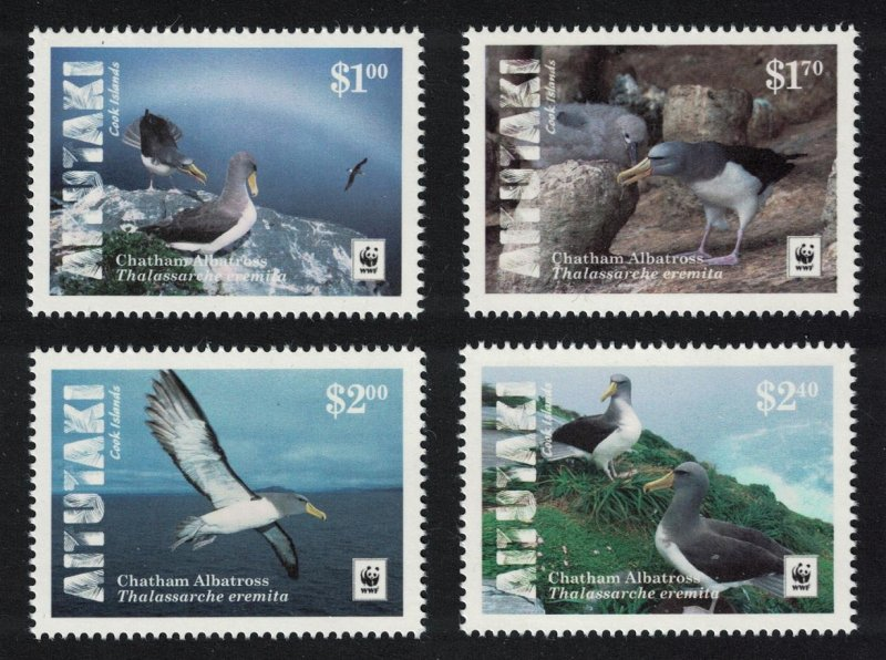 Aitutaki MNH 652a-d Chatham Albatross Birds WWF 2016