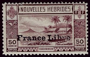 French New Hebredes SC#74 F-VF Mint SCV$12.50.....Prices are Rising!