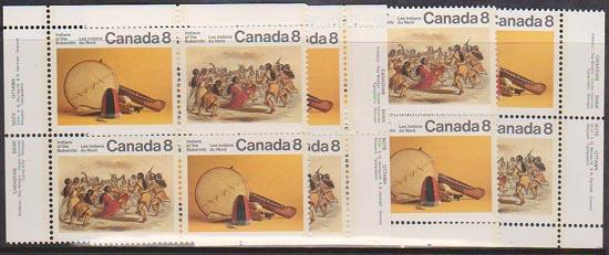 Canadas USC #575ai Mint 1975 SubArctic Indians HF Back - MS of IB's VF-NH