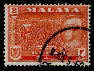 MALAYSIA - Kedah QEII SG105, 2c orange-red, FINE USED.
