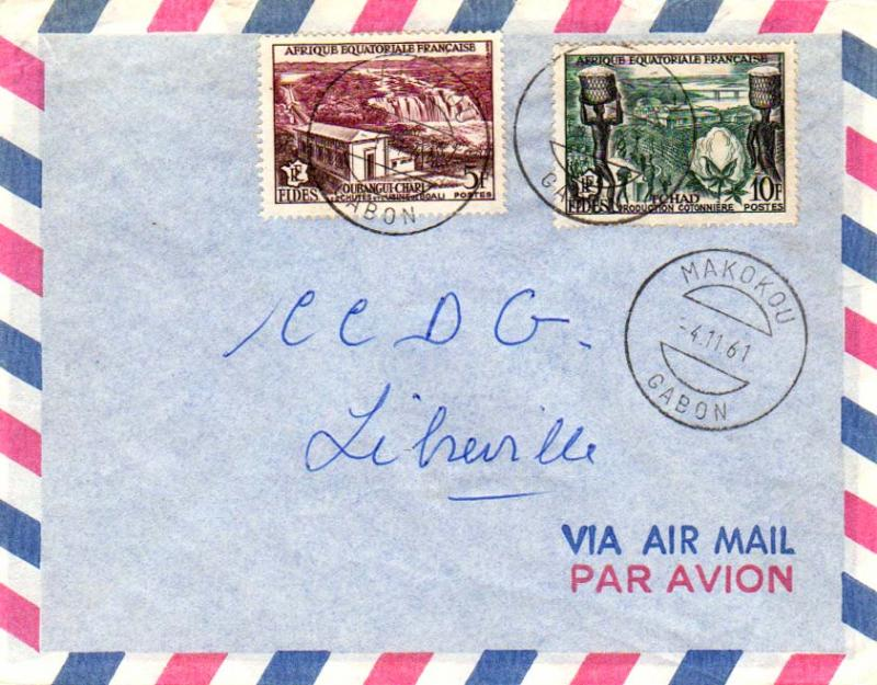 French Equatorial Africa 1961 Postal History