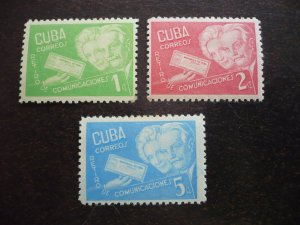 Stamps - Cuba - Scott# 399-401 - Mint Hinged Set of 3 Stamps