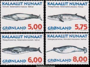 Greenland Scott 319-322 Mint never hinged.
