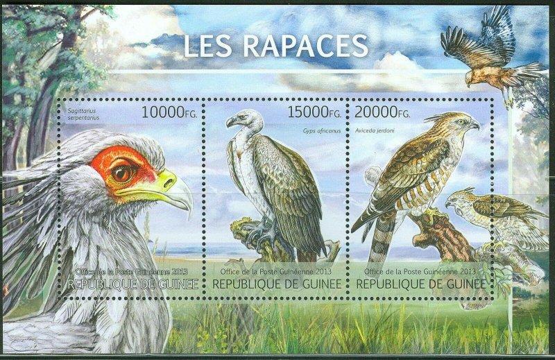 Guinea MNH S/S Birds Of Prey Fauna 2013