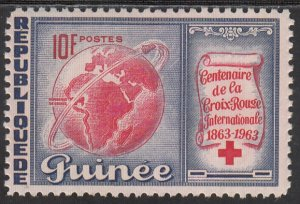 Guinea, Sc 310, MNH, 1963, Red Cross