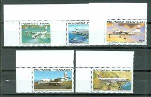 FRENCH POLYNESIA AIRPLANES #C172-176...SET...MNH...$16.00