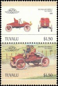 Tuvalu #391-396, Complete Set(6), Pairs, 1986, Auto, Never Hinged