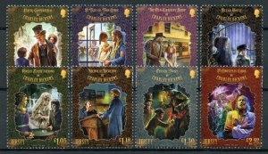 Jersey Famous People Stamps 2020 MNH Charles Dickens Writers Oliver Twist 8v Set