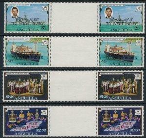 Anguilla #297-300* NH Gutter pairs  CV $4.00+  Silver Jubilee overprints