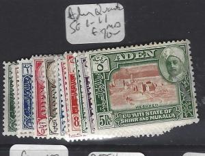 ADEN  QU'AITI   (P0310B)  SG 1-11   MOG