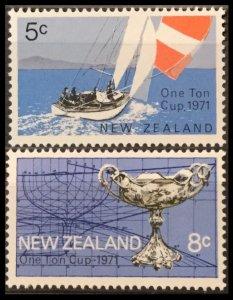 1971 New Zealand 552-553 Regatta