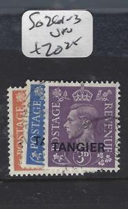 MOROCCO  (PP1208B)  KGVI  TANGIER  SG261-3   VFU