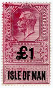 (I.B) George V Revenue : Isle of Man £1