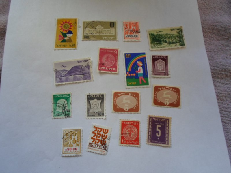 ISRAEL STAMPS MIXED CONDITION. LOT OF 15 stamps ( 2)