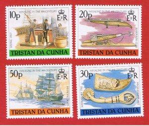 Tristan da Cunha #434-437  MNH OG   Whaling   Free S/H
