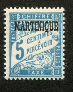 Martinique, Scott #J15, Mint, Never Hinged