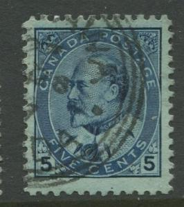 Canada - Scott 91 - KEVII Definitive Issue - 1903 - Used - Single 5c Stamp