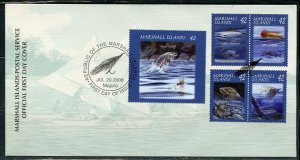 MARSHALL ISLANDS 2008 FISHING  SET FIRST DAY COVER