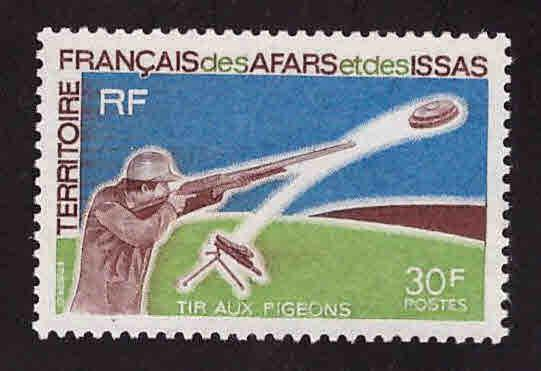 Afars and Issas Scott 343 MNH** Trapshooting stamp