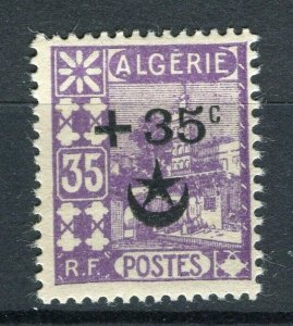 FRENCH; ALGERIA 1927 Wounded Soldiers issue fine Mint hinged 35c. value