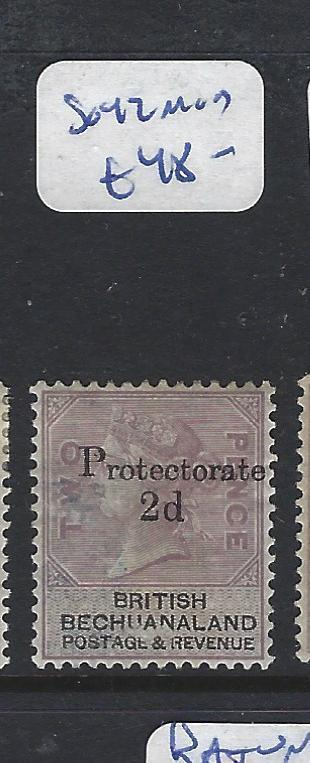 BECHUANALAND PROTECTORATE (PP1111B) QV 2D/2D PROTECTORATE  SG 42   MOG